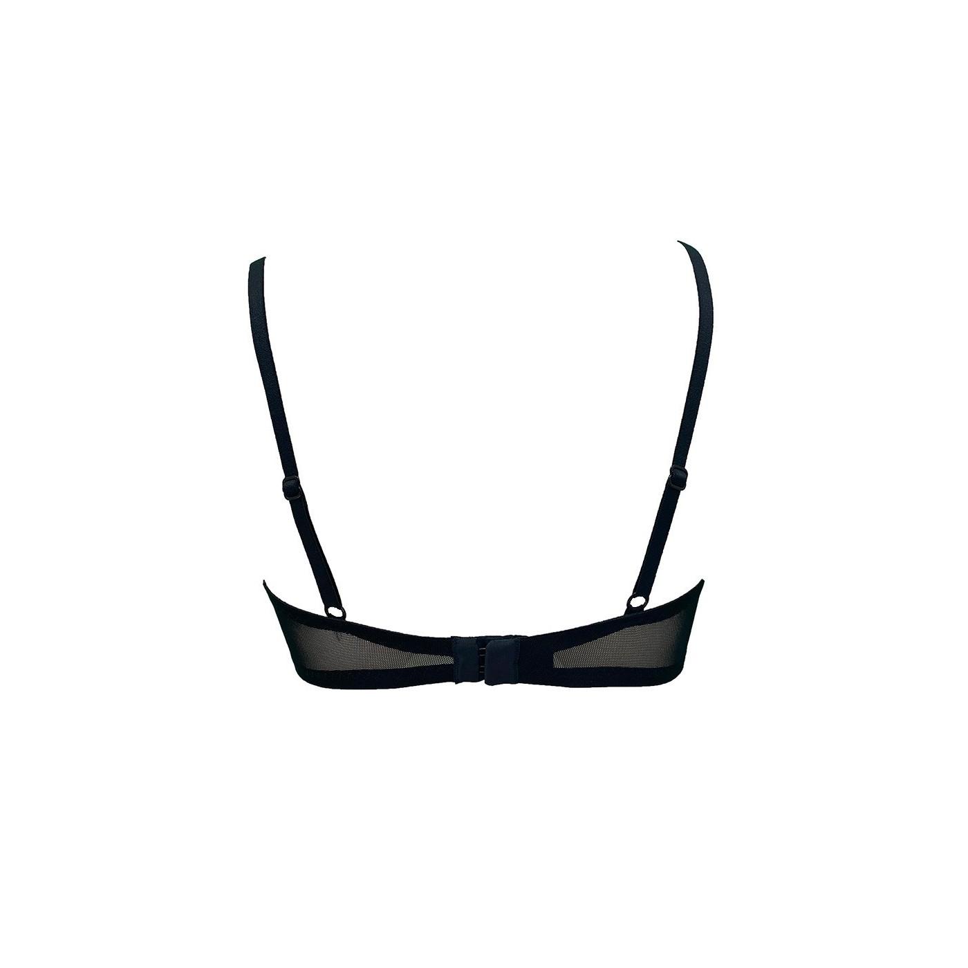 Anais, sexy black mesh bra - Patrice Catanzaro