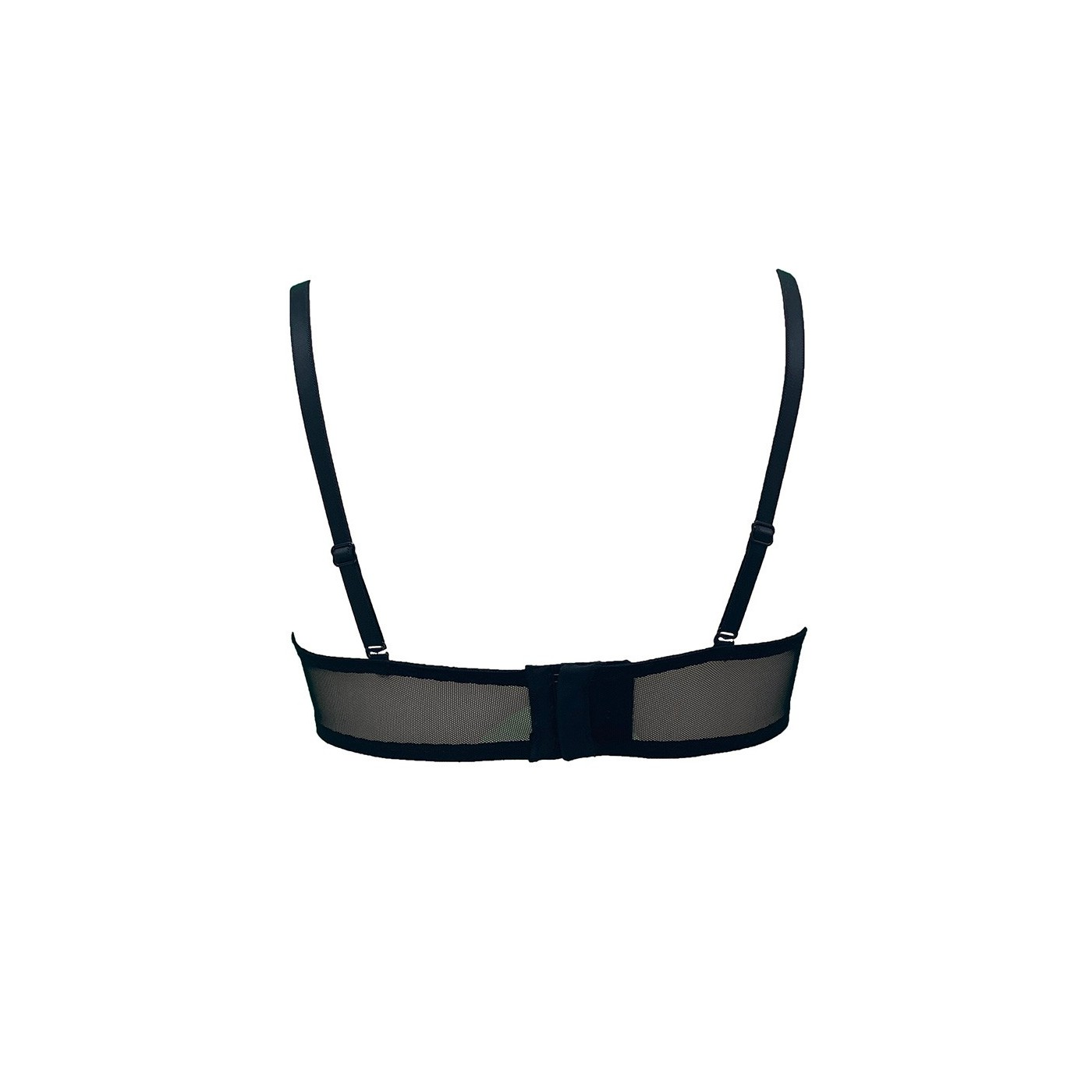 Blanche, sexy black mesh bra - Patrice Catanzaro