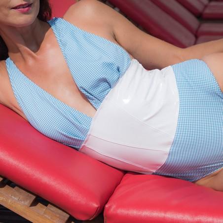 Vichy, body été bleu canard et vinyle blanc - Patrice Catanzaro