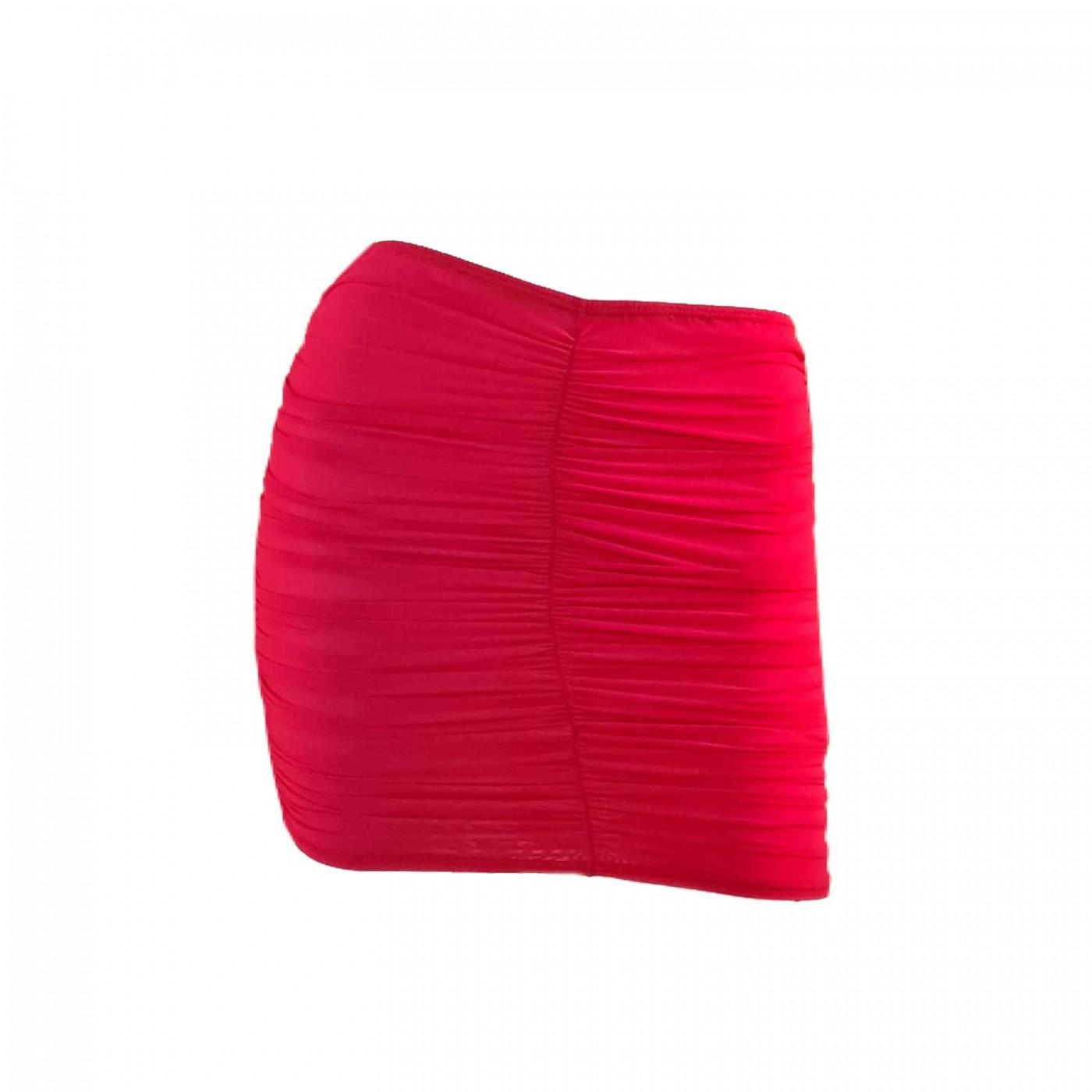 Turquoise, jupe en résille rouge - Patrice Catanzaro