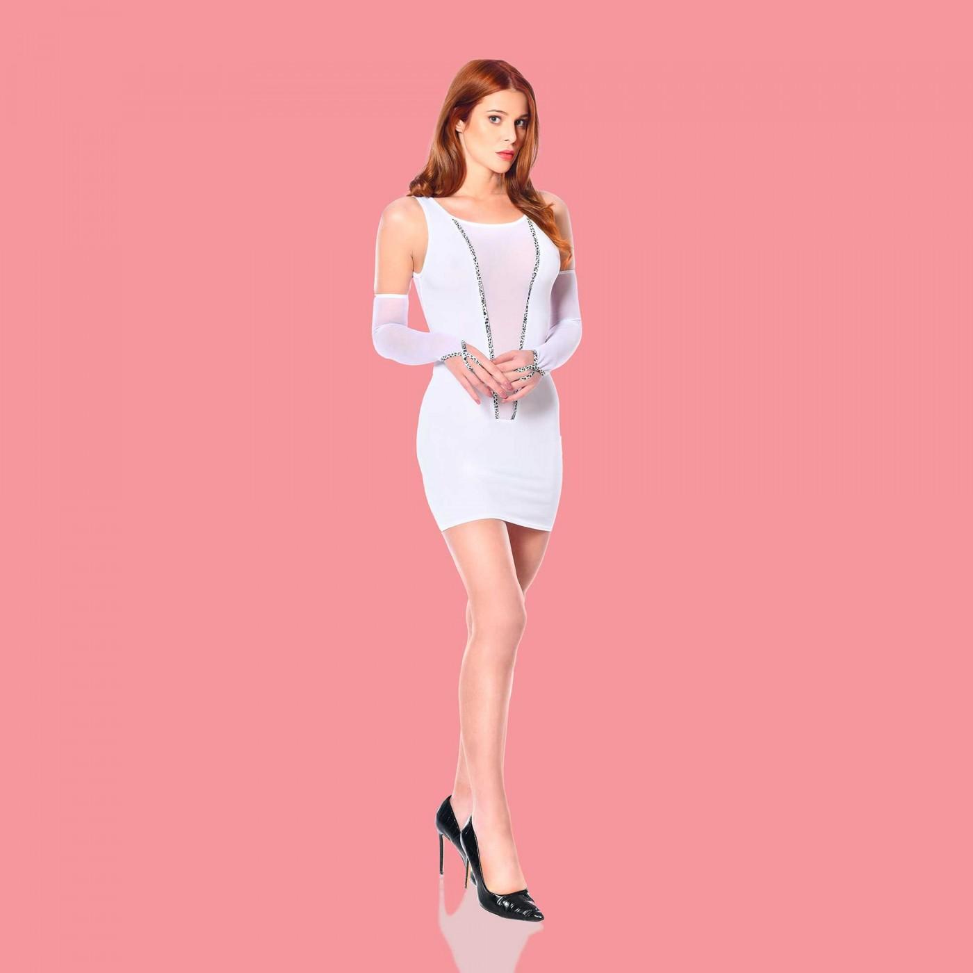 Flore, robe sexy en lycra blanc - Patrice Catanzaro