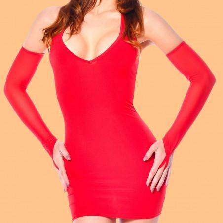 Mitaines sexy en résille rouge - Patrice Catanzaro