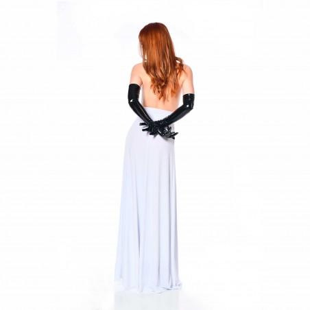 Isabella, robe sexy en lycra blanc - Patrice Catanzaro