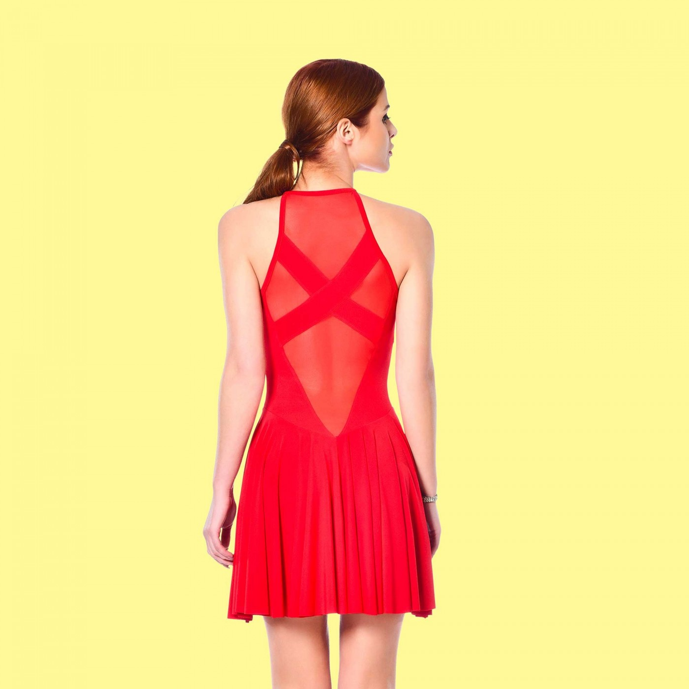 Clementina, robe sexy en lycra rouge - Patrice Catanzaro
