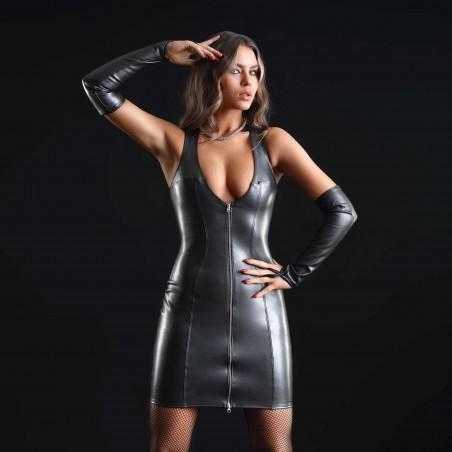 Taylor, robe sexy en faux cuir noir - Patrice Catanzaro
