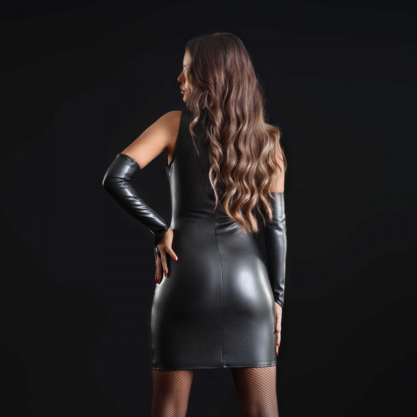 Taylor, faux leather mini dress - Patrice Catanzaro