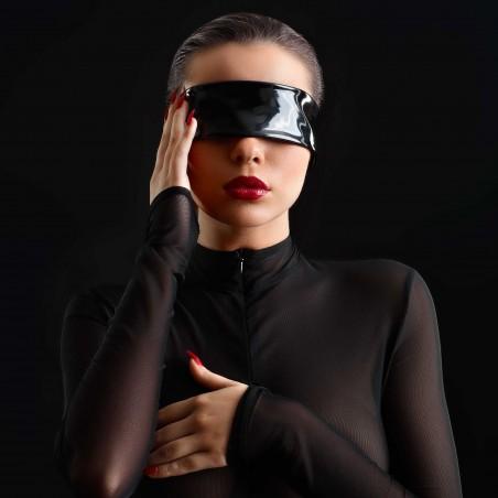 Black shinny vinyl blindfold - Patrice Catanzaro