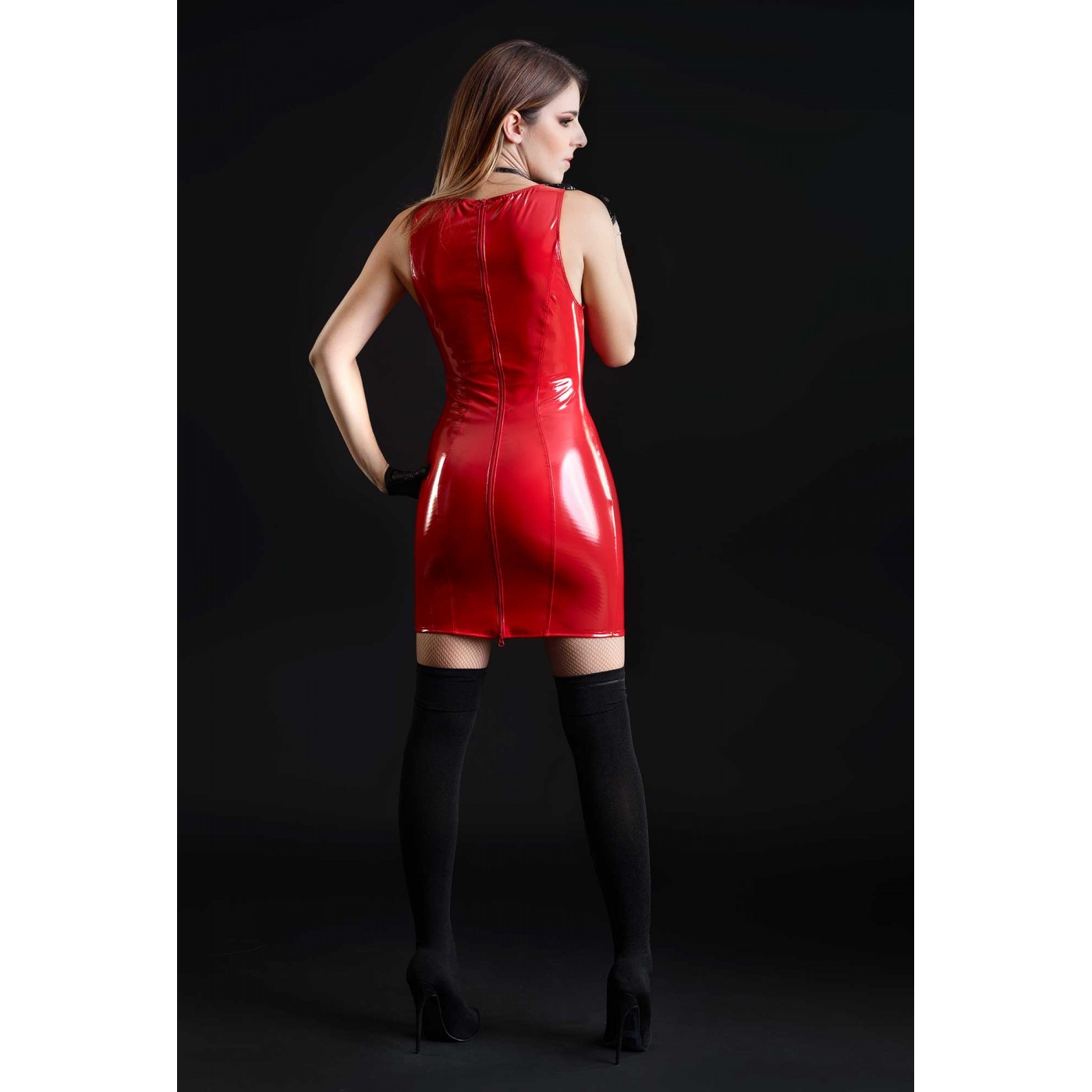 Emmanuelle, robe sexy vinyle rouge - Patrice Catanzaro