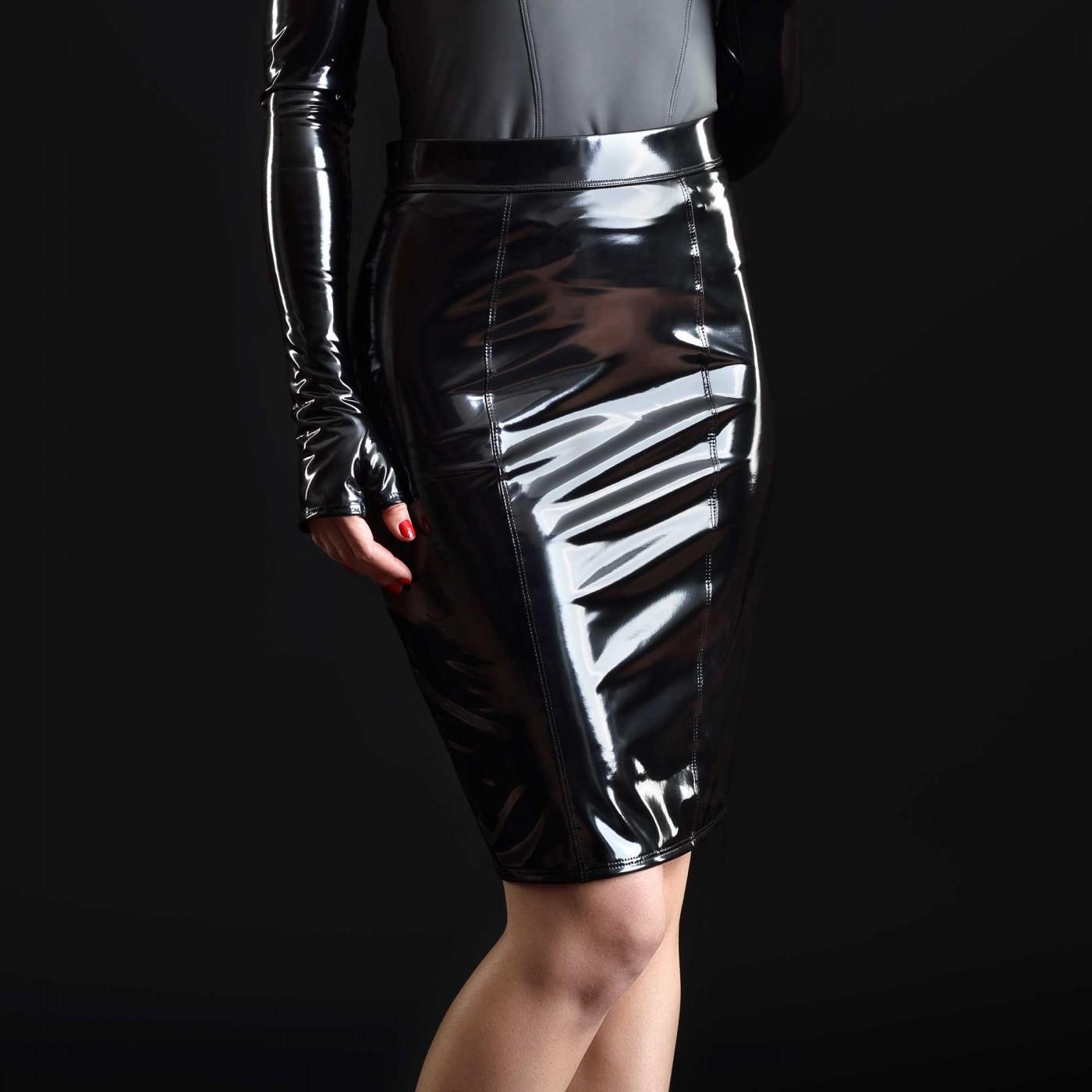 Katerine, jupe fétiche vinyle noir - Patrice Catanzaro