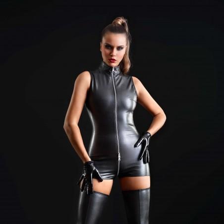 Erika, sexy faux leather playsuit - Patrice Catanzaro