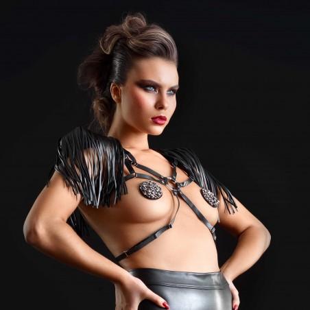 Roxanne, black wetlook harness - Patrice Catanzaro