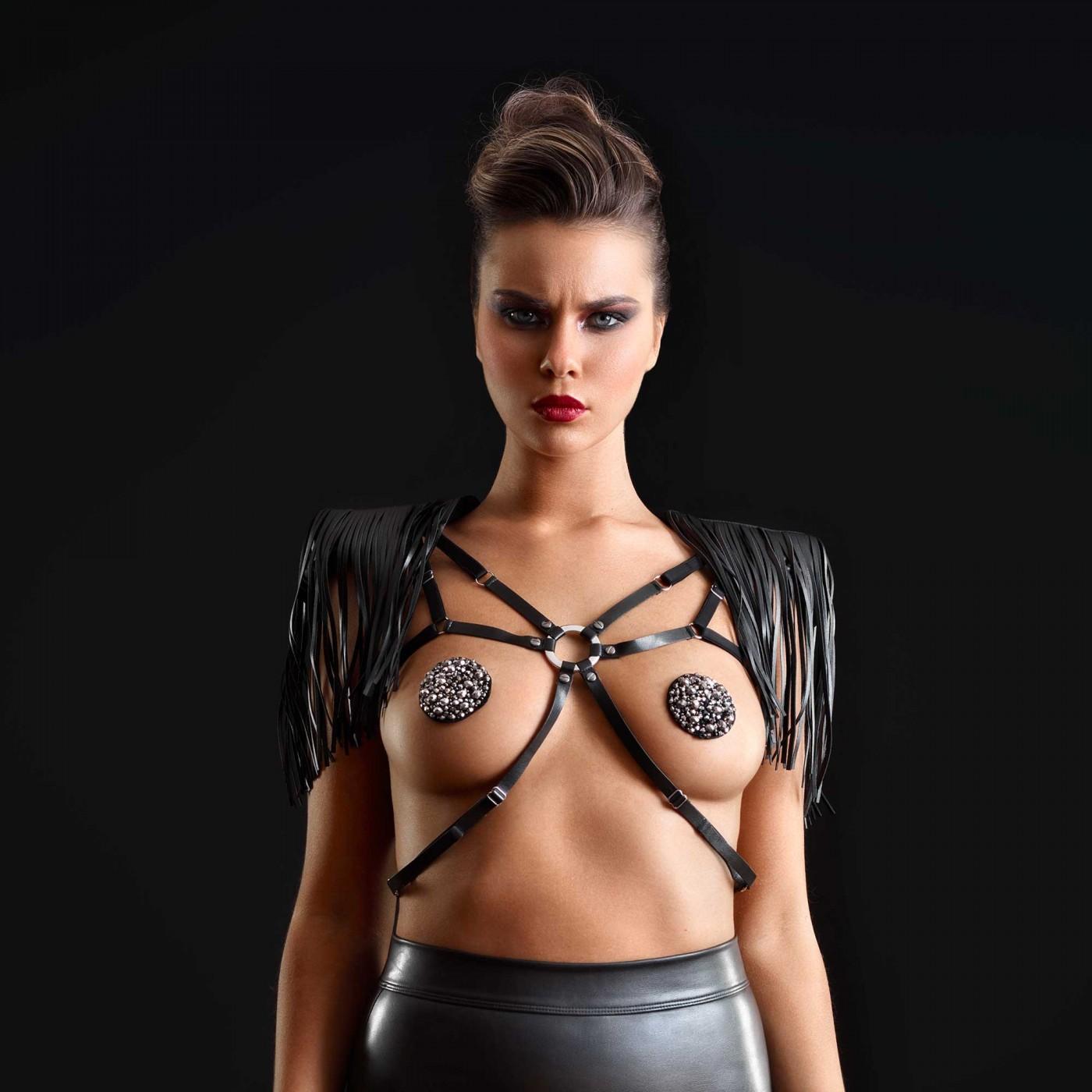 Roxanne, harnais en wetlook noir - Patrice Catanzaro