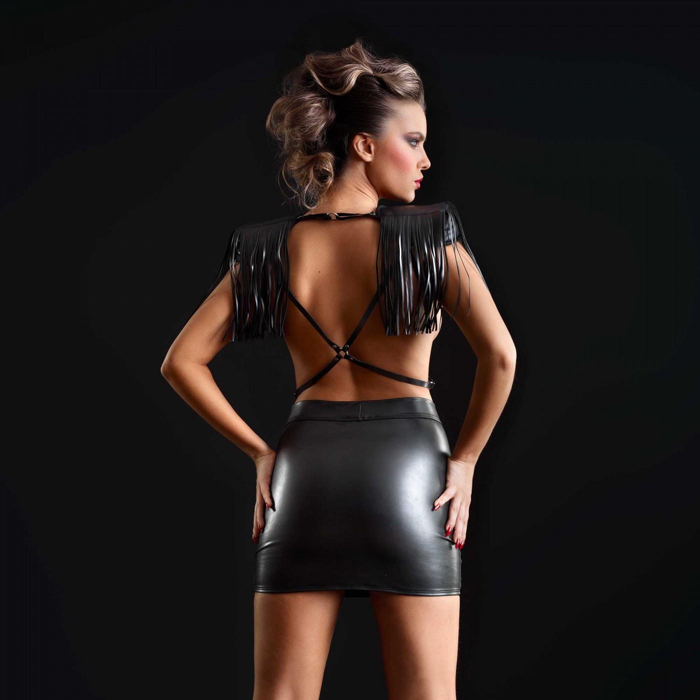 Reglisse, falda poli piel negra - Patrice Catanzaro