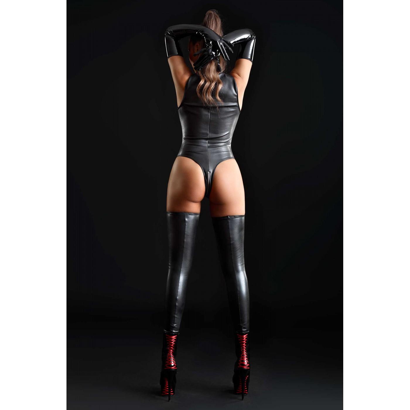 Sixtine, faux leather bodysuit - Patrice Catanzaro
