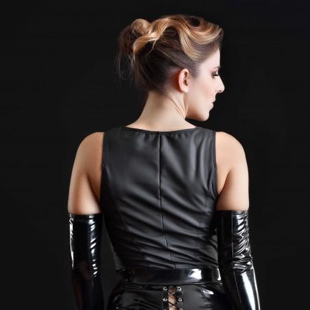 Cachou, sexy black wetlook top - Patrice Catanzaro