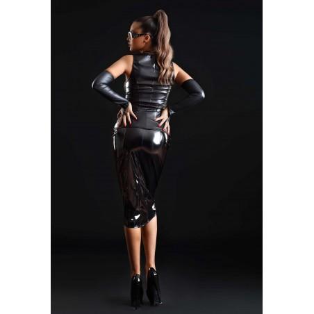 Ornella, sexy black midi skirt - Patrice Catanzaro