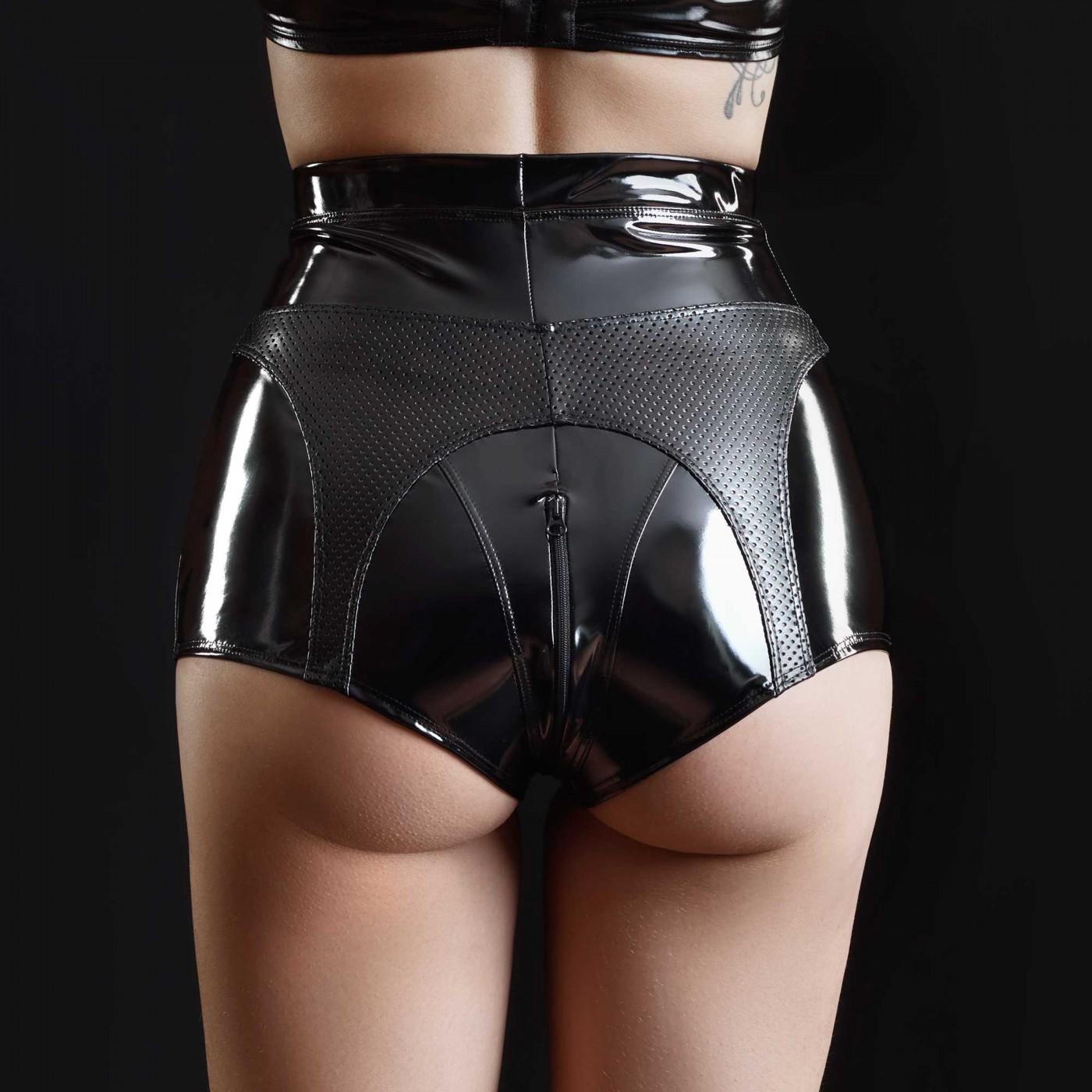 Patricia, faux leather shorts - Patrice Catanzaro
