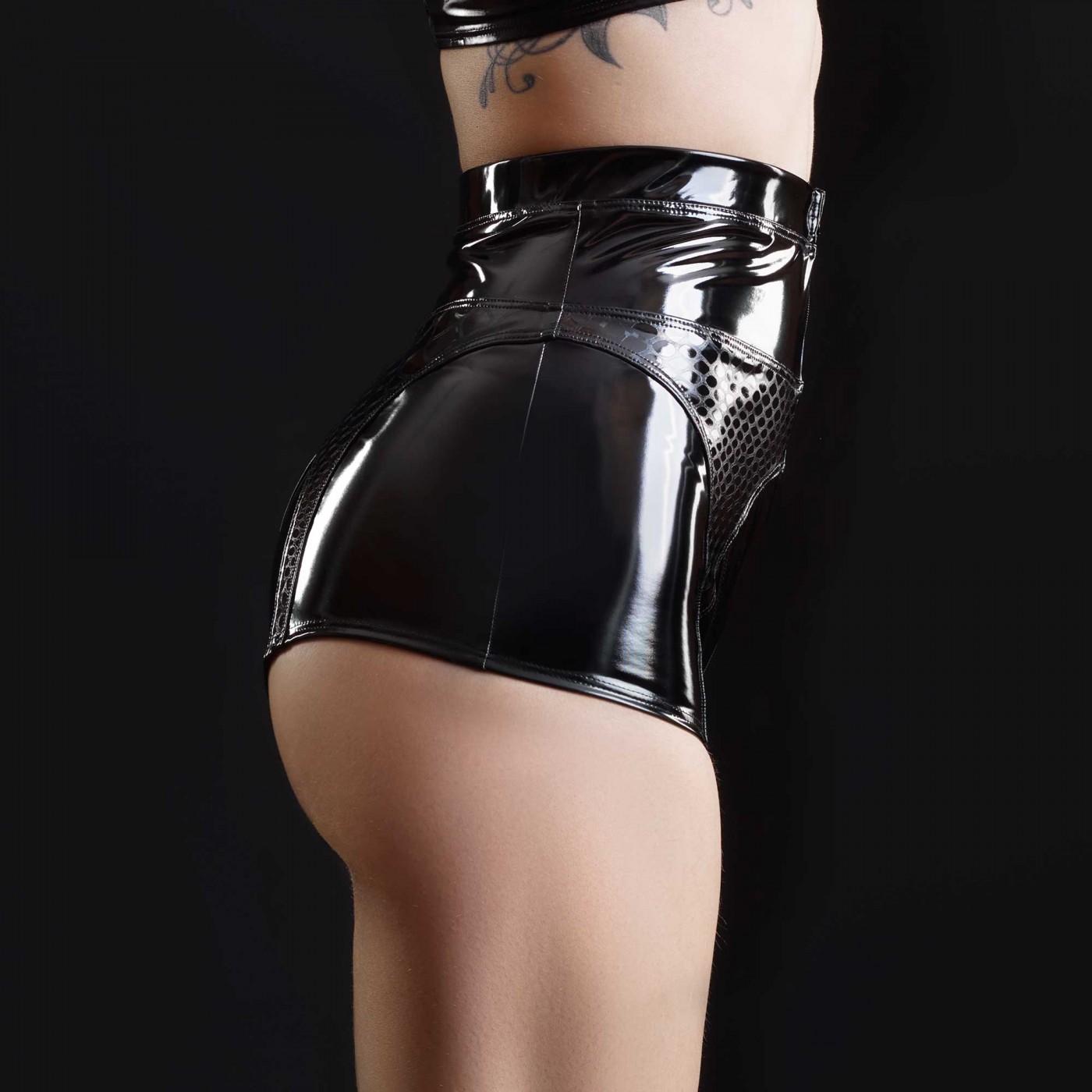 Patricia, vinyl  & holo shorts - Patrice Catanzaro