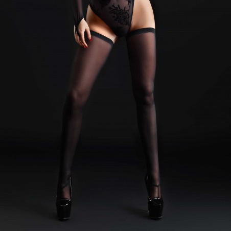 Livia, bas sexy en résille noire - Patrice Catanzaro