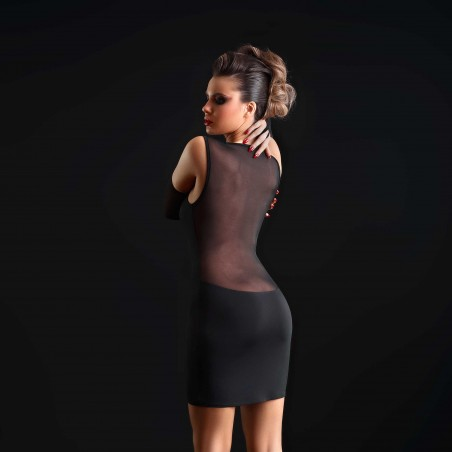 Ophelia, sexy black lycra dress - Patrice Catanzaro