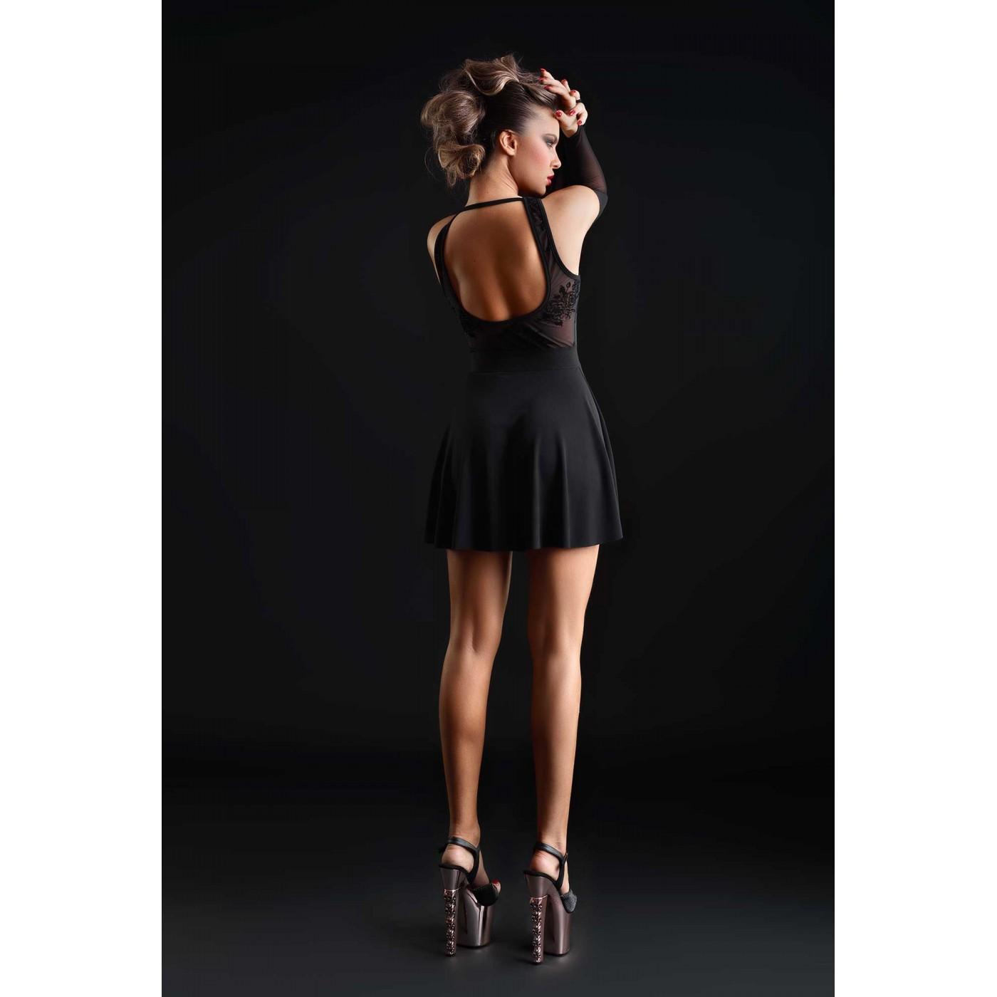 Kat, sexy black lycra dress - Patrice Catanzaro