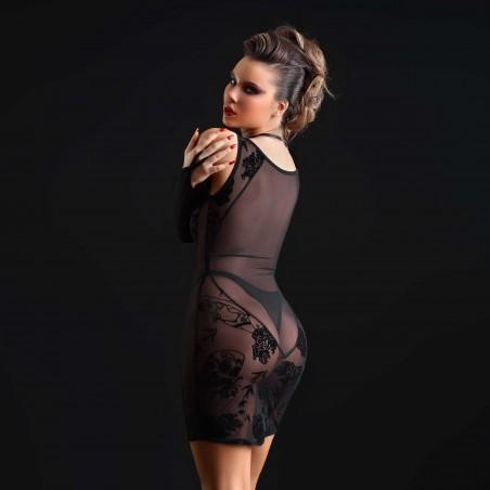 Patsy, sexy black mesh dress - Patrice Catanzaro
