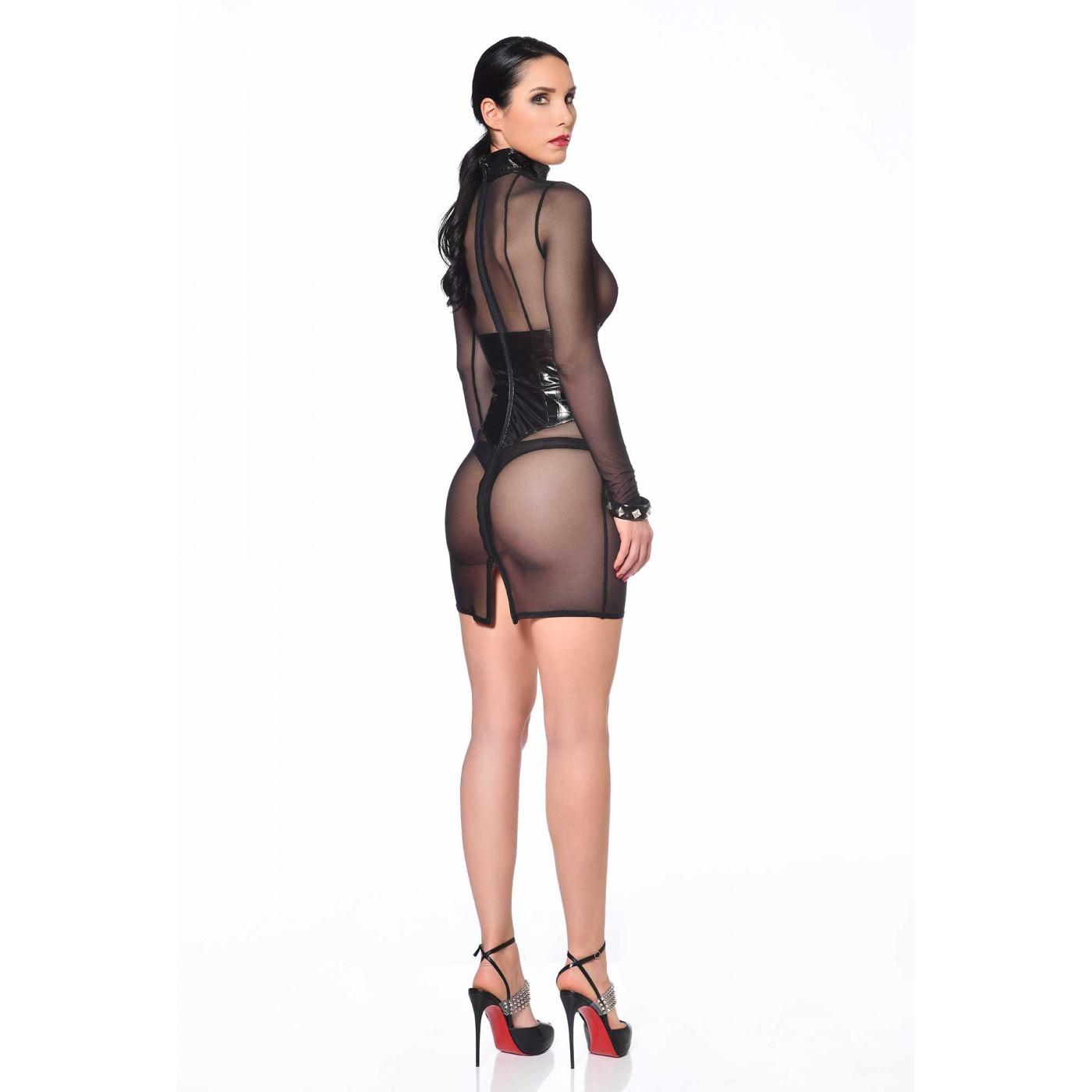 Debba, robe sexy en résille noire - Patrice Catanzaro