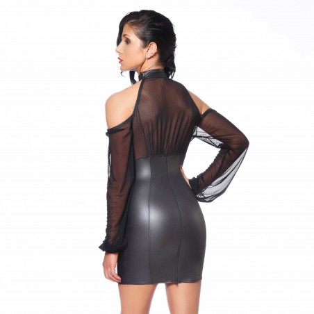 Sophie, sexy black wetlook dress - Patrice Catanzaro