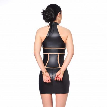 Kasia, black fetish wetlook dress - Patrice Catanzaro