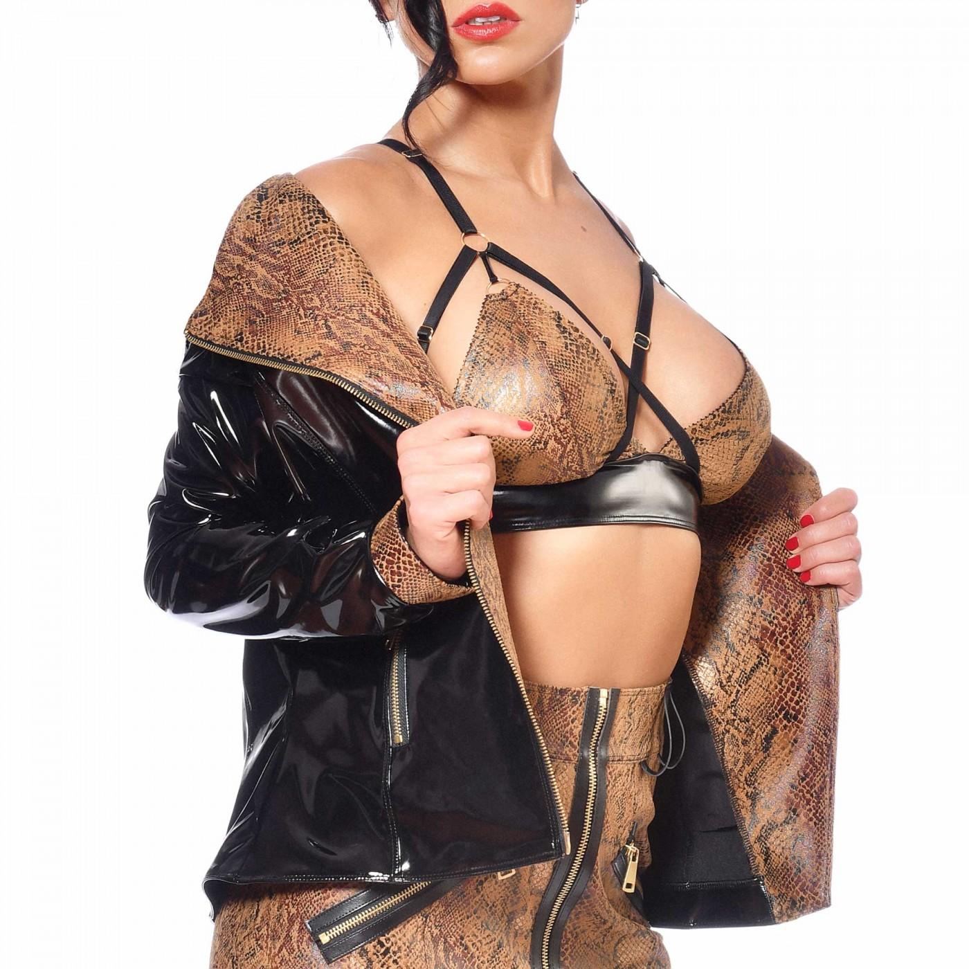 Ann, sexy snake print jacket - Patrice Catanzaro