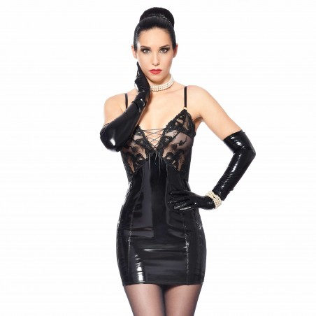 Talula, robe sexy en vinyle noire - Patrice Catanzaro