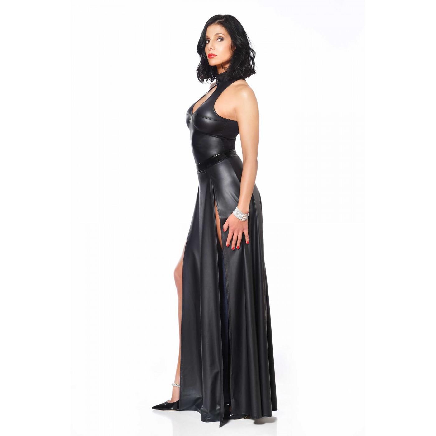 Kate, fetish black wetlook top - Patrice Catanzaro
