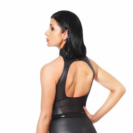 Kate, top sexy en wetlook noir - Patrice Catanzaro