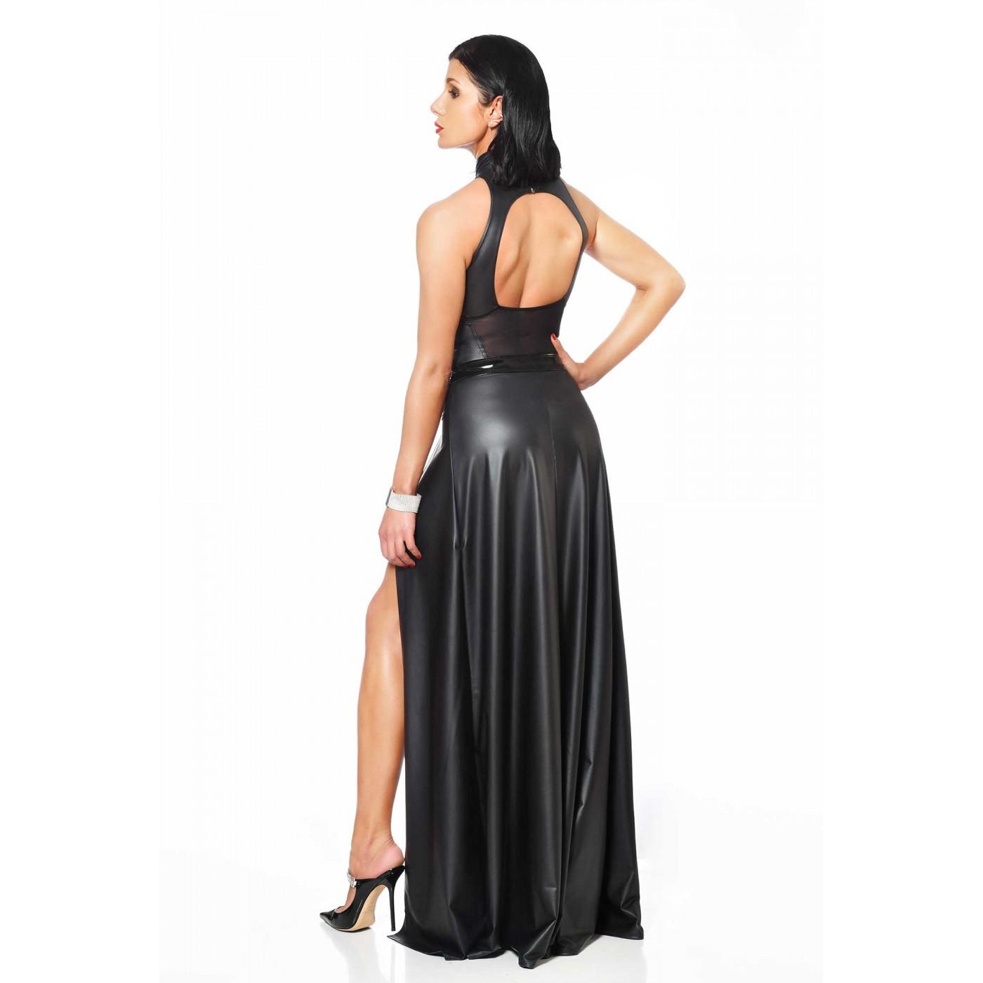 Klaudia, falda larga de wetlook - Patrice Catanzaro