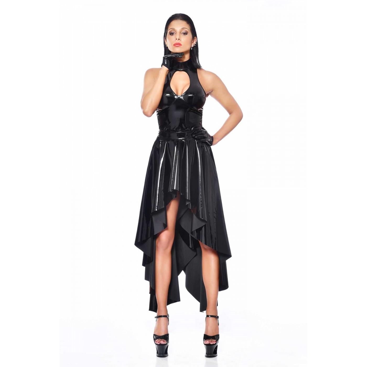 O, fetish black vinyl skirt - Patrice Catanzaro