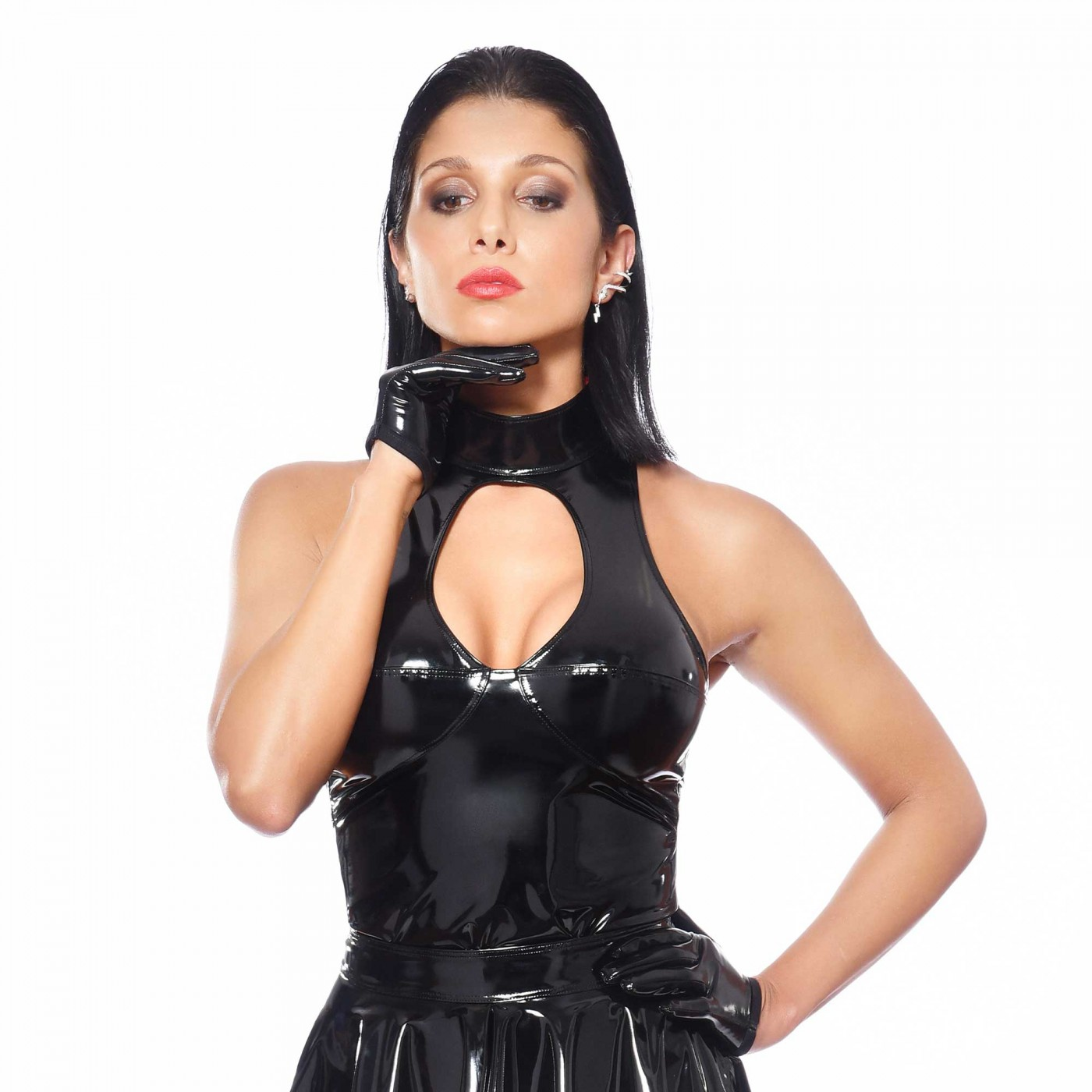 Kate, fetish black vinyl top - Patrice Catanzaro