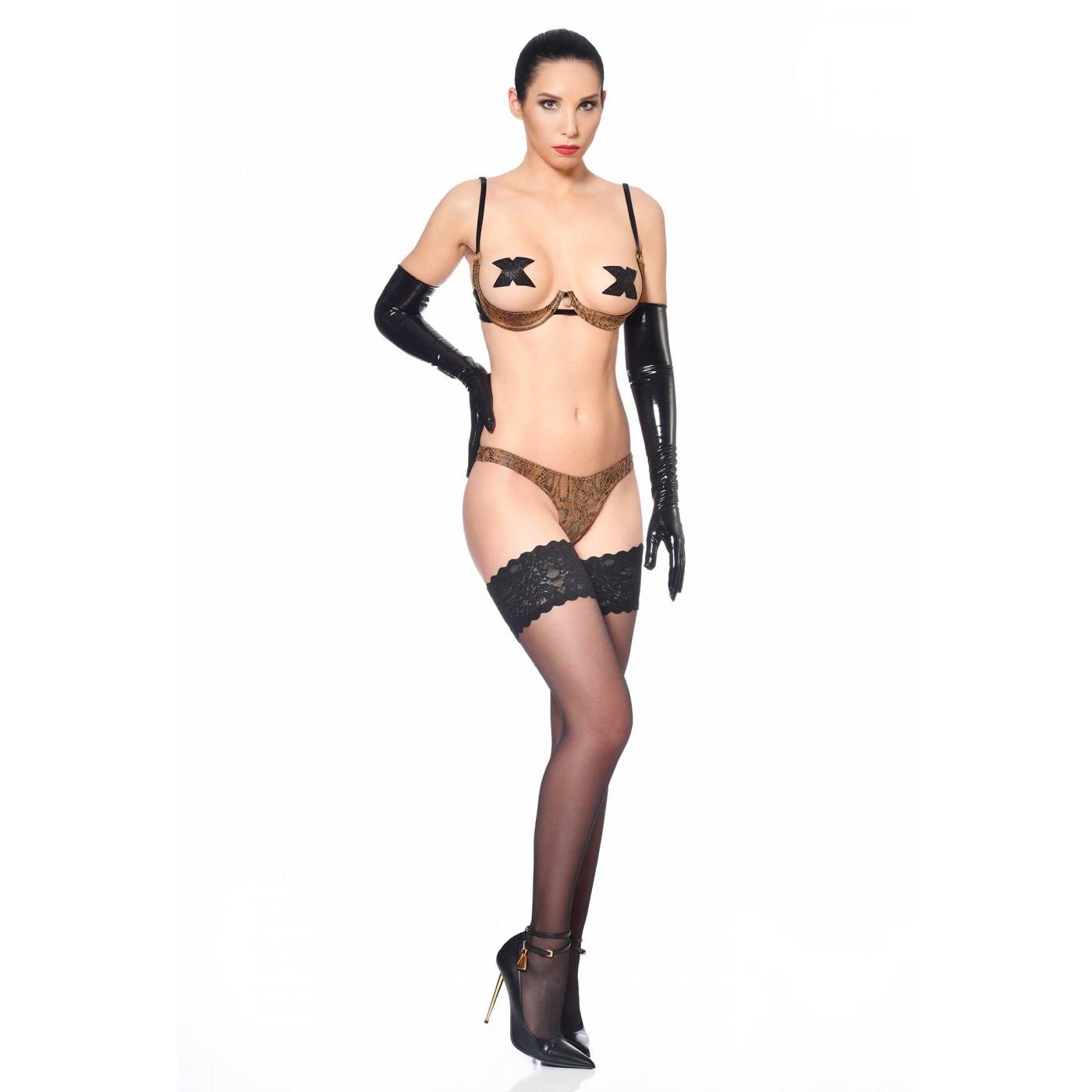 Ivanka, sexy snake print bra - Patrice Catanzaro