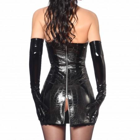 Vika, vestido sexy de vinilo negro - Patrice Catanzaro