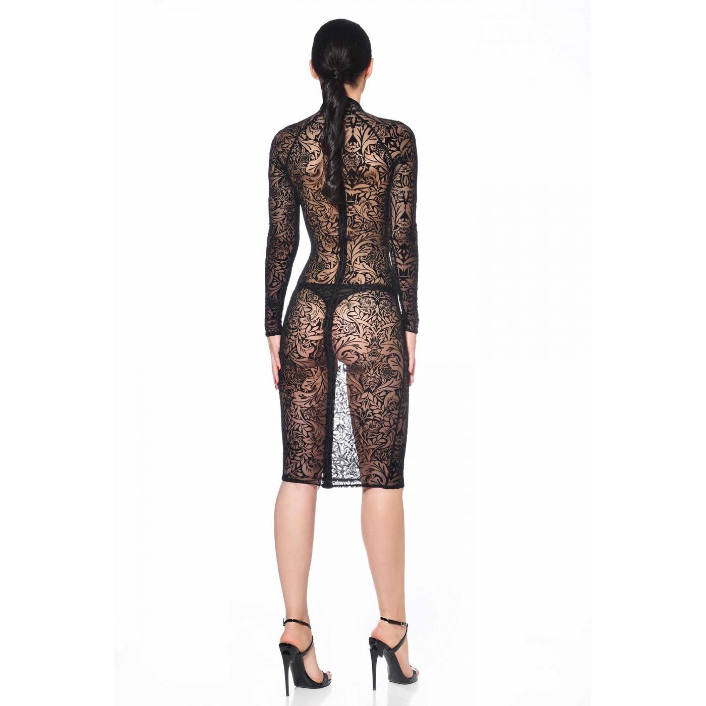 Azia, maori black mesh dress - Patrice Catanzaro