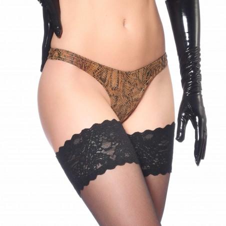 Ivanka, string sexy imprimé serpent - Patrice Catanzaro