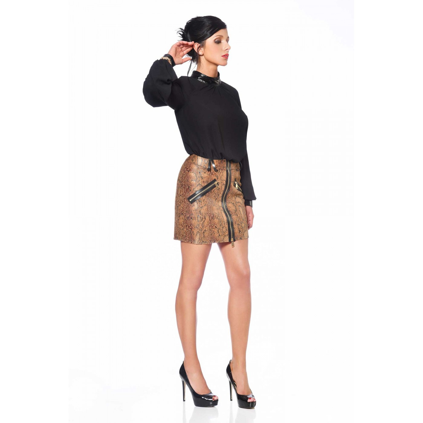 Ann, sexy snake print skirt - Patrice Catanzaro