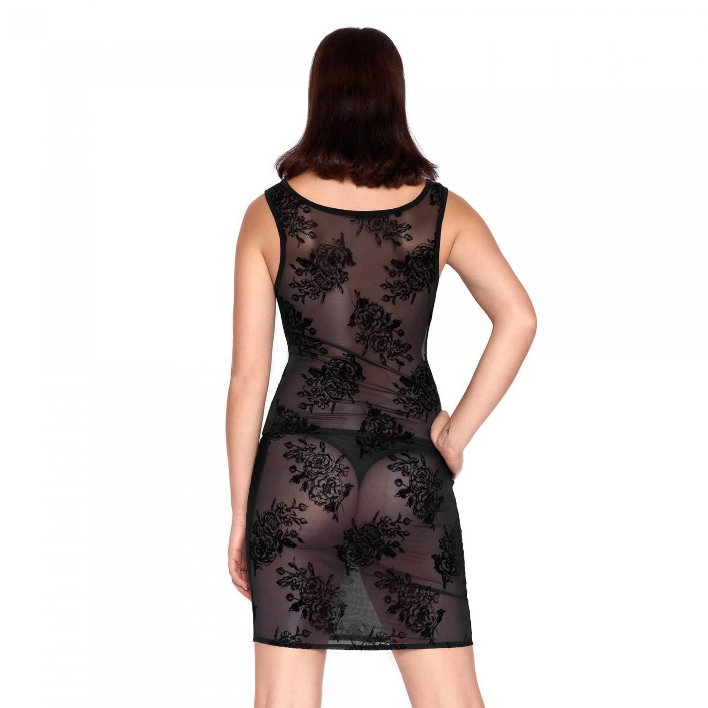 Silvana, sexy black mesh skirt - Patrice Catanzaro