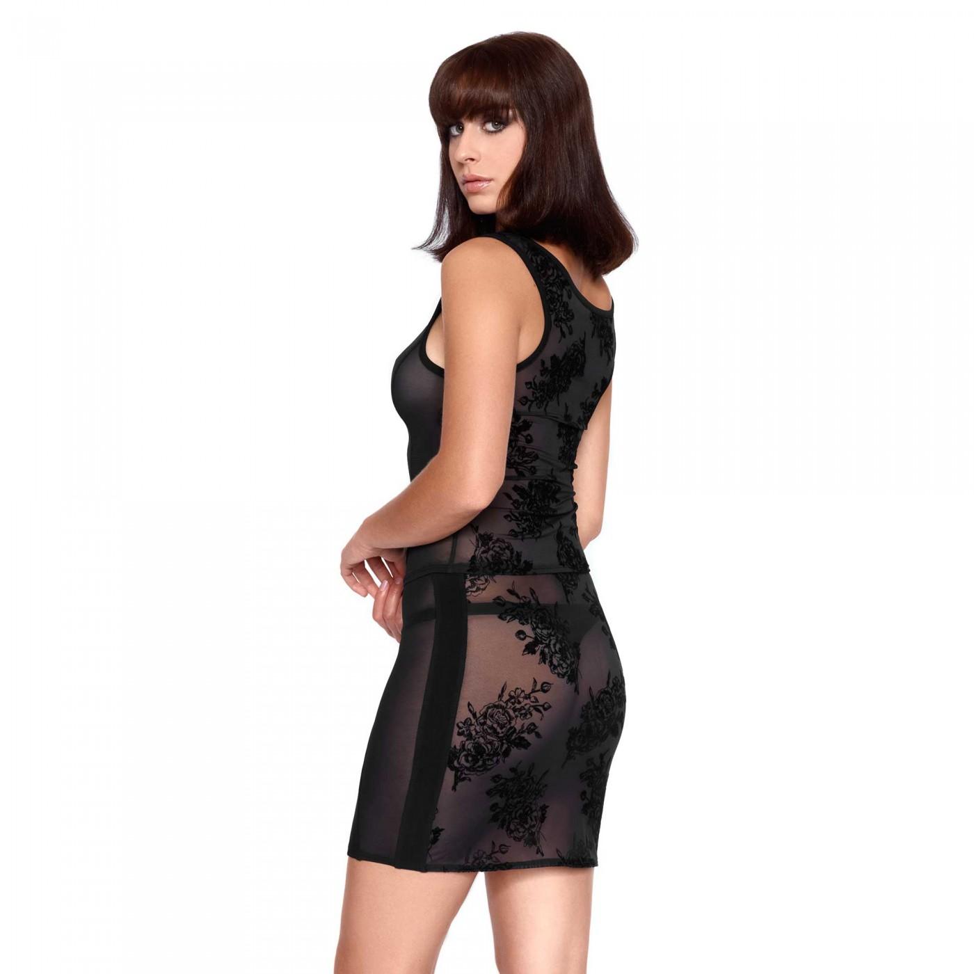 Silvana, top noir en résille sexy - Patrice Catanzaro
