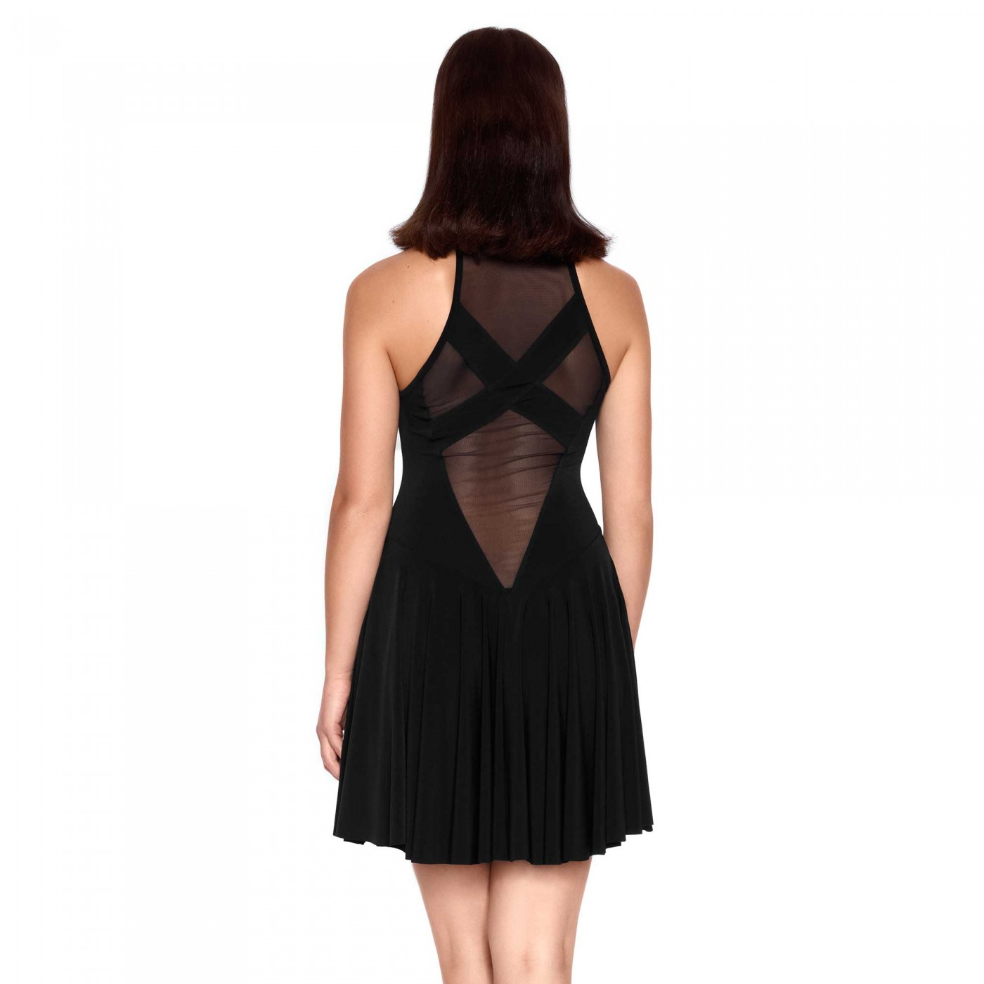 Clementina, black lycra dress - Patrice Catanzaro