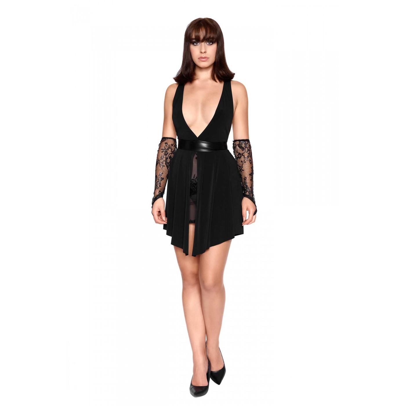 Tatiana, black sexy lycra dress - Patrice Catanzaro