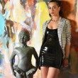 Emmanuelle, vestido vinilo negro - Patrice Catanzaro