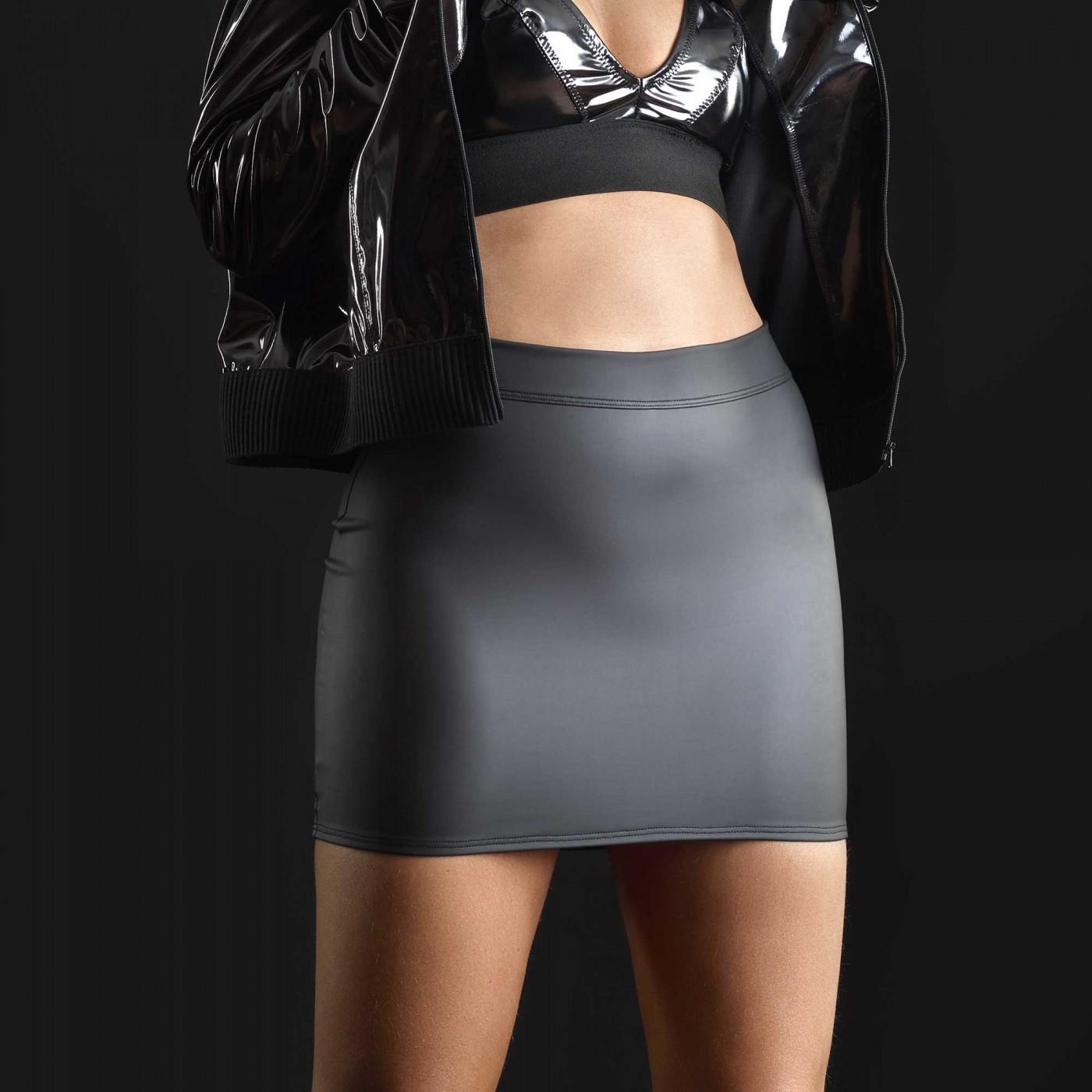 Cachou, jupe sexy en néoprène noir - Patrice Catanzaro
