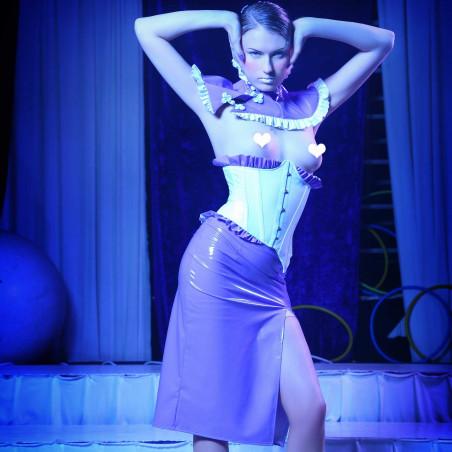 Yummy, sexy vinyl skirt - Patrice Catanzaro