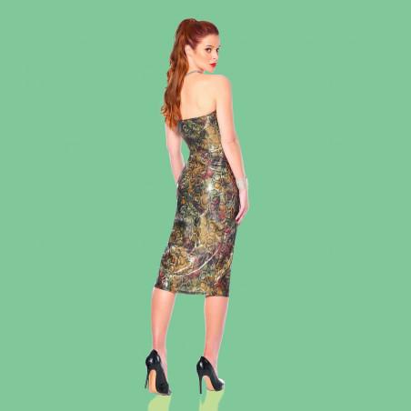 Gina, sexy snake print dress - Patrice Catanzaro