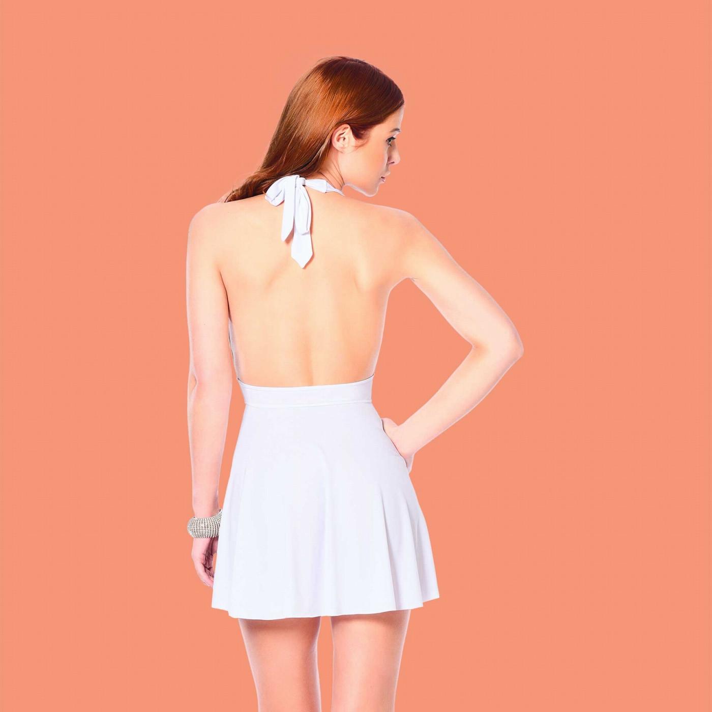 Isa, robe sexy en lycra blanc - Patrice Catanzaro